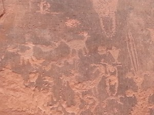 Rock art near Moab, UT.
